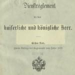 Dienst-Reglement für das kaiserliche und königliche Heer t